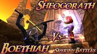 skyrim battles sheogorath vs boethiah legendary settings