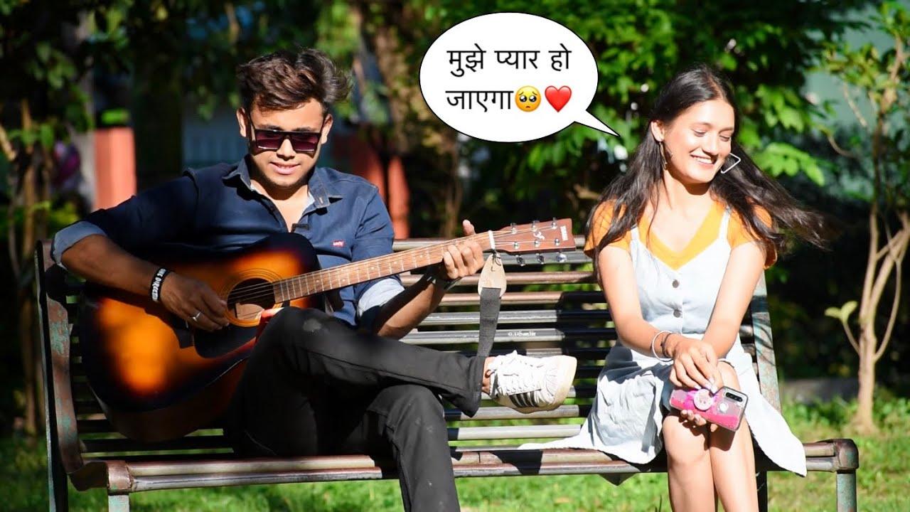 Picking Up Cute Girl With Singing Love Songs In Public   Impressing😍 Girl Prank   Jhopdi K