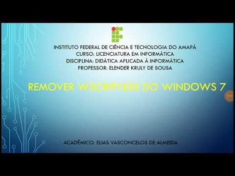 Como remover virus wscript do windows 7