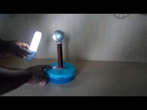 DIY Mini Tesla Coil  ♦ Wireless Power Transmission ♦ Wireless Electricity Transfer