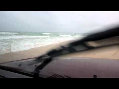 Driving in beach, Parc National du Diawling, Trarza, Mauritania