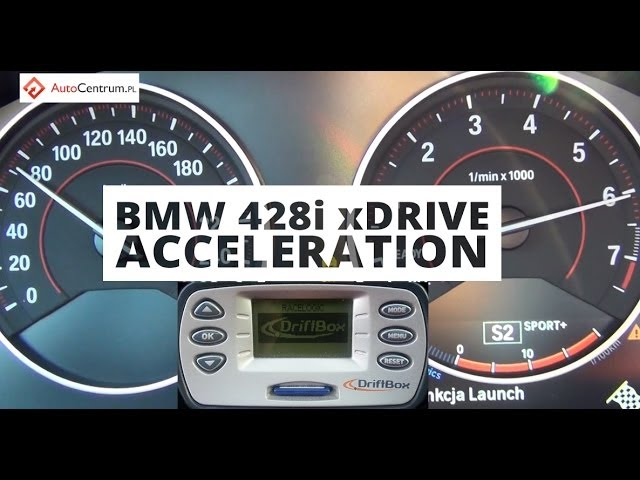BMW 428i xDrive 2.0 245 PS (on dry) - acceleration 0-100 km/h