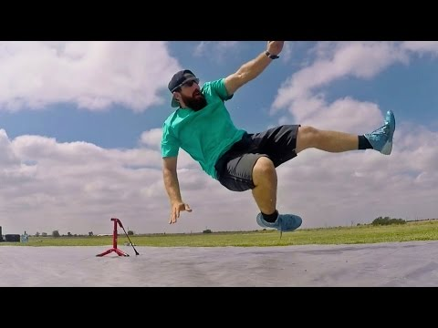 Slip 'N Slide Football Battle | Dude Perfect