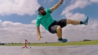Slip and Slide Football Battle  Dude Perfect