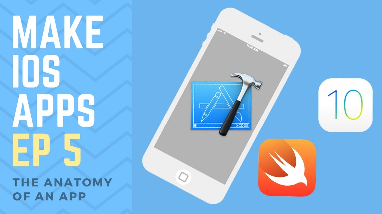 How To Make an iPhone App - Ep 5 - The Anatomy of an iOS App (Xcode ...