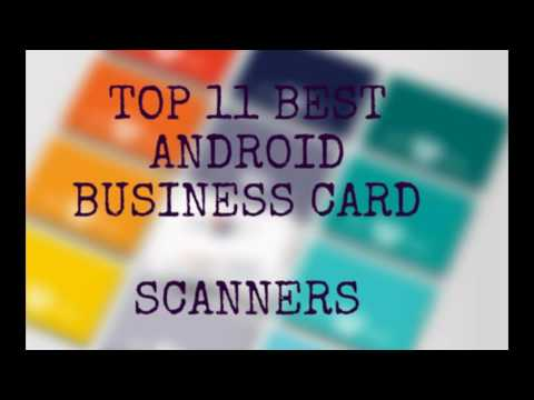 Best android business card scanner
