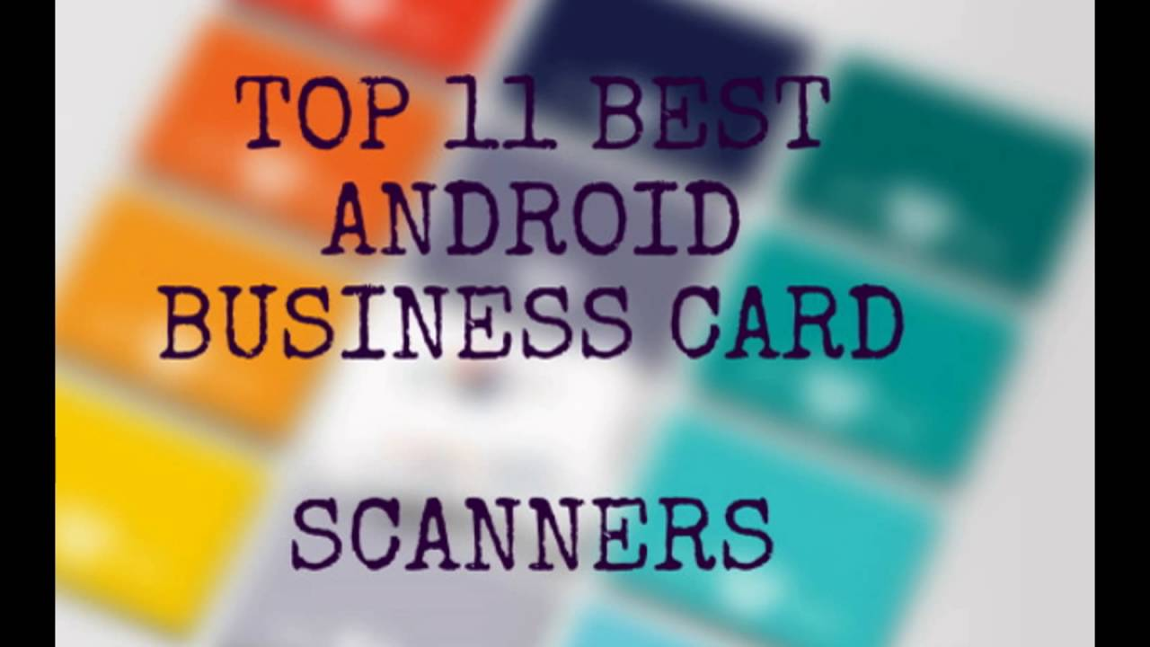 Best android business card scanner - YouTube