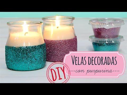 Como hacer velas decoradas con purpurina youtube - Como hacer velas ...