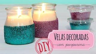 Como hacer velas decoradas con purpurina