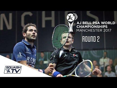 Squash: AJ Bell  PSA World Championships 2017 - Men\'s Rd 2 Roundup