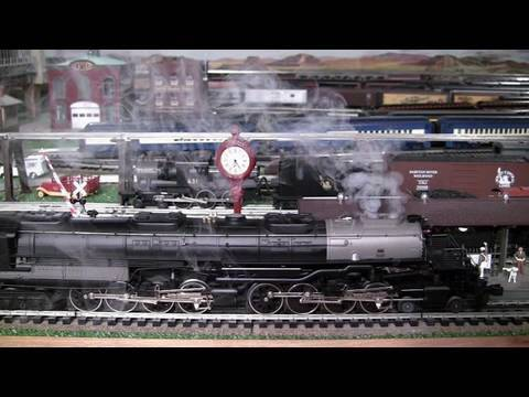 MTH Premier UP Big Boy O-Gauge Steam Locomotive Hauling 55 Freight Cars in True HD 1080p