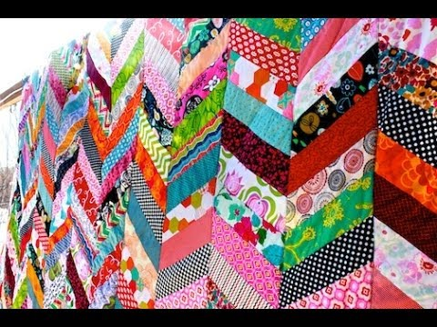 Chevron Column Quilt Tutorial - YouTube : chevron quilt - Adamdwight.com