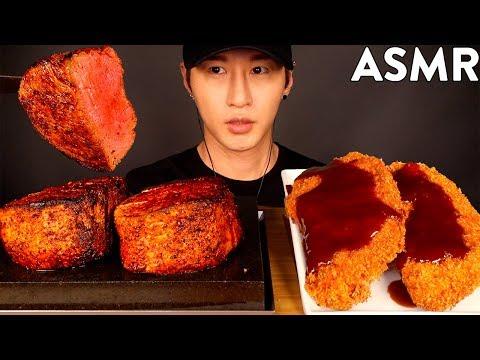 asmr-filet-mignon-&-tonkatsu-mukbang-(no-talking)-cooking-&-eating-sounds- -zach-choi-asmr