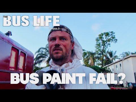 Painting a School Bus | Bus Conversion pt.  27 | The Bus Life