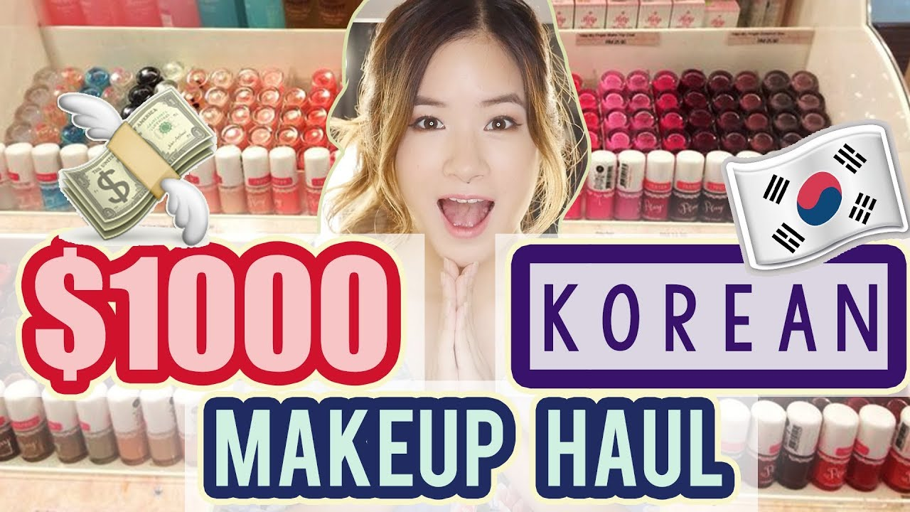 I SPENT $1000 ON KOREAN MAKEUP?!? + GIVEAWAY