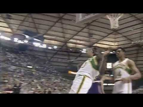 Shawn Kemp, Gary Payton and the Sonics Boom Past Stockton and Malone's Jazz - League Pass Look Back