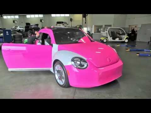 Timelapse: Custom Pink wrap of VW Beetle @ Pacific Volkswagen now for sale
