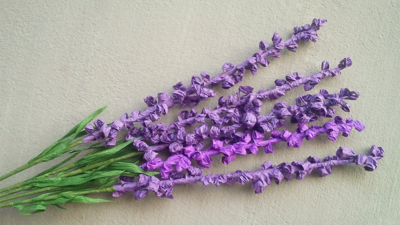 ABC TV How To Make Lavender Paper Flower From Twisted