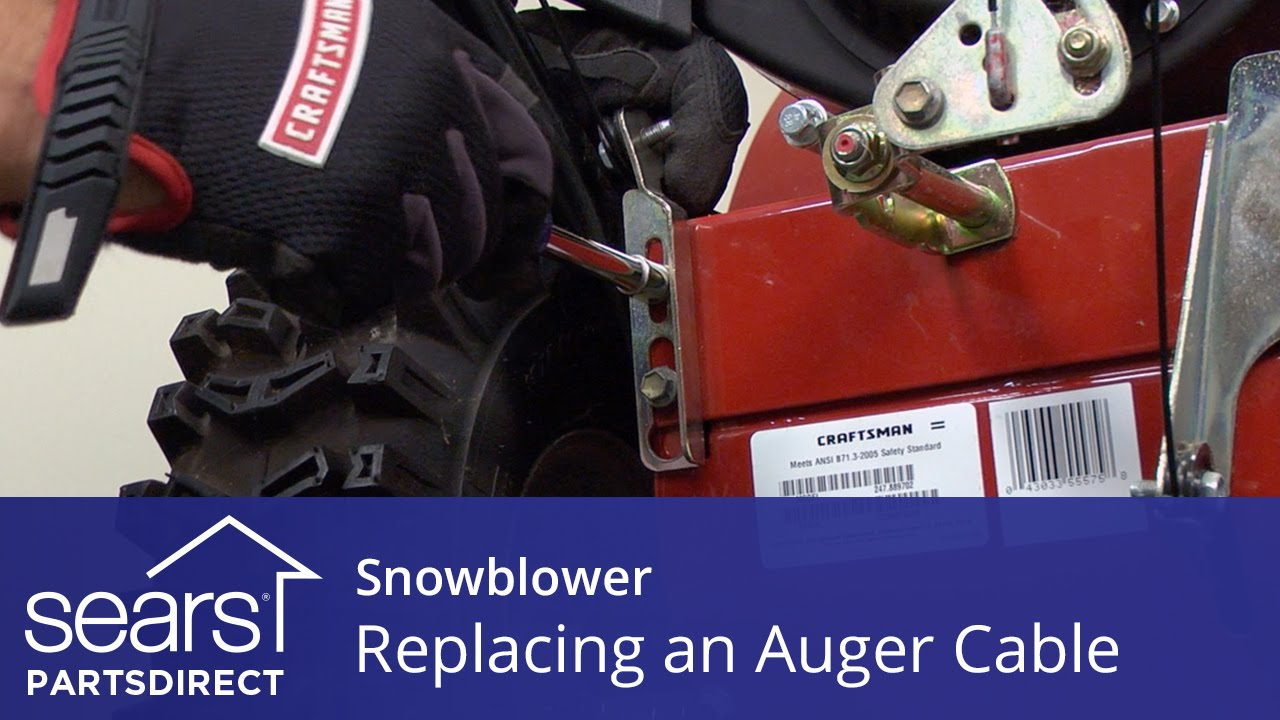 Replacing An Auger Engagement Cable On A Snowblower Youtube