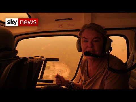 Flying through Australia's bushfires