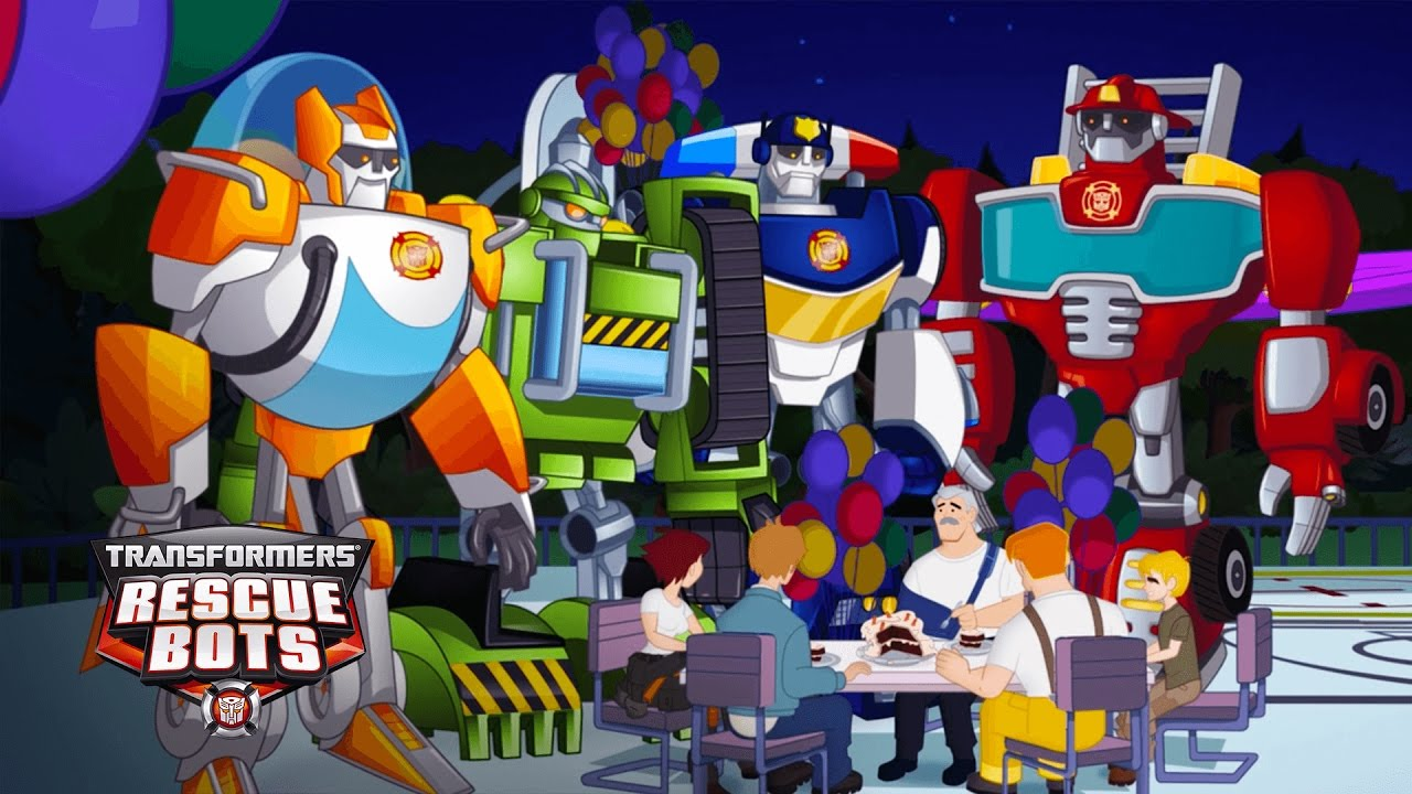Transformers Rescue Bots Season 1 Chief Burns Birthday Dinner