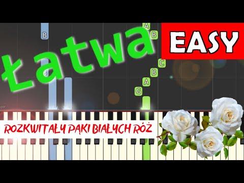 🎹 Białe róże (pieśń patriotyczna) - Piano Tutorial (łatwa wersja) 🎹
