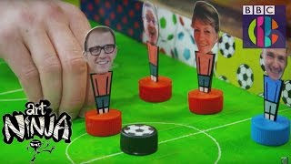 How to make a flick football game | Art Ninja | CBBC