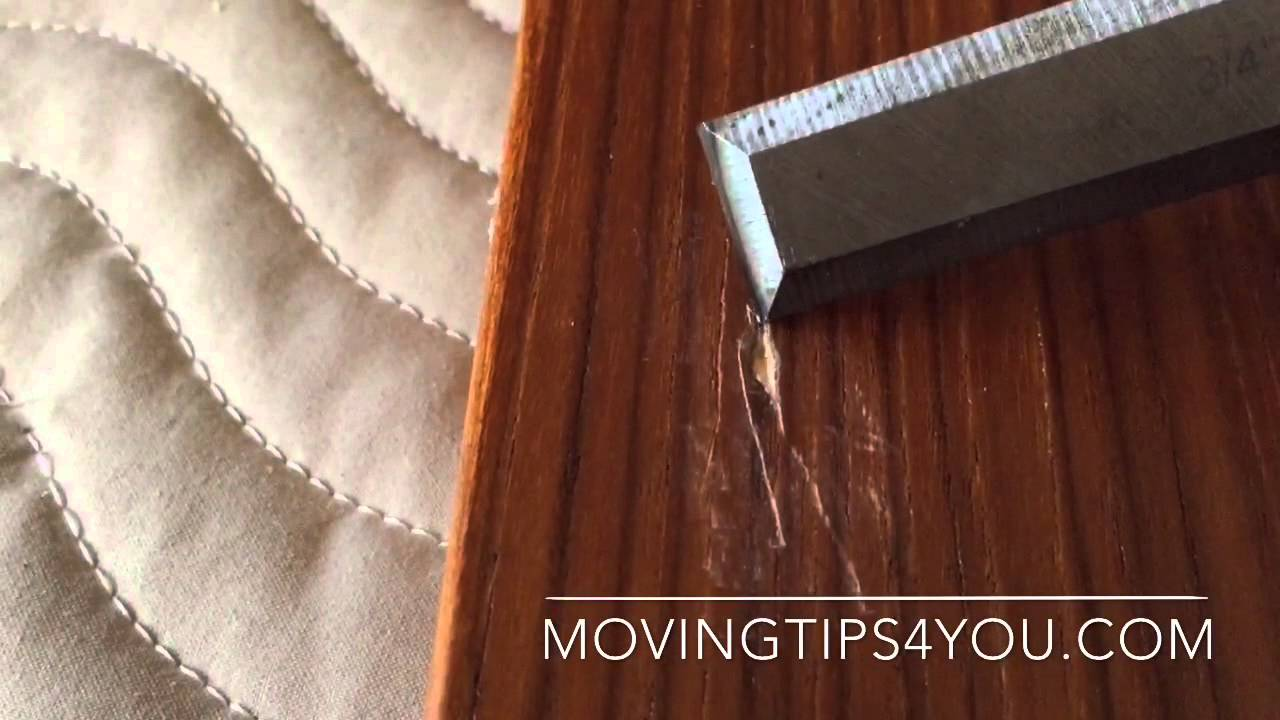 How To Repair A Scratch In Veneer Or Laminate Furniture