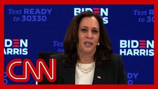 Hear Kamala Harris' reaction to Trump and Biden's chaotic debate