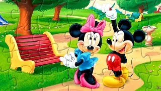 Mickey and Minnie Mouse Picture puzzle game for kids