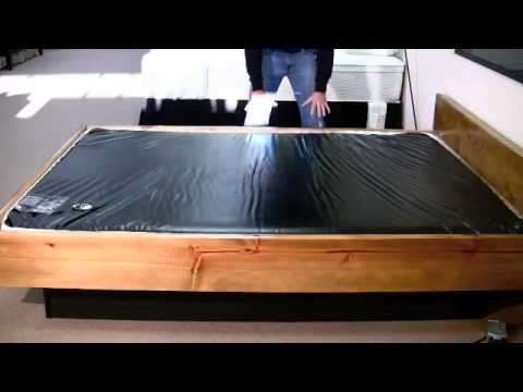 Waterbed mattress ruby 4k youtube for Waterbed with fish
