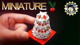 미니어쳐 먹을수있는 케이크 만들기(생크림) Miniature Real cake /미미네 미니어쳐
