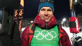 Денис Спицов и Александр Большунов после командного спринта