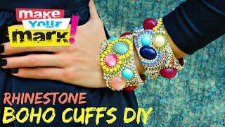 How to: Rhinestone Boho Cuffs