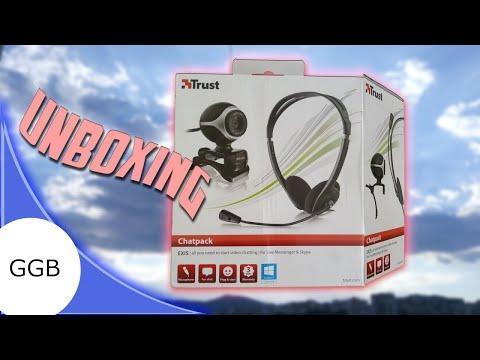 Unboxing Trust Chatpack Webcam And Headset / Разопаковане Trust Чат пакет  уеб камера и слушалки