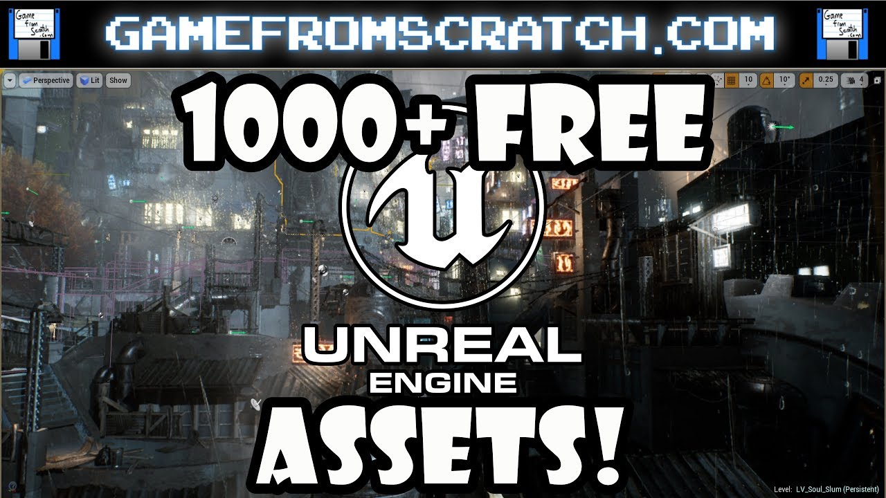 1000 free assets for unreal engine released youtube