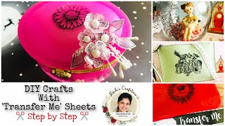 DIY Crafts- how to use Dress My Craft Transfer Me sheets | Step by Step | Ruchi's Crafeteria