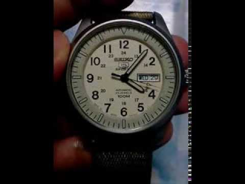 9d3a4152f0b Seiko 5 Military Automatic Sports SNZG07J1 SNZG07J SNZG07 Men s Japan Made  Watch