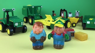 John Deere Fun on the Farm Playset (Tractor, Harvester, Truck, Farm Animals) by DisneyToysReview
