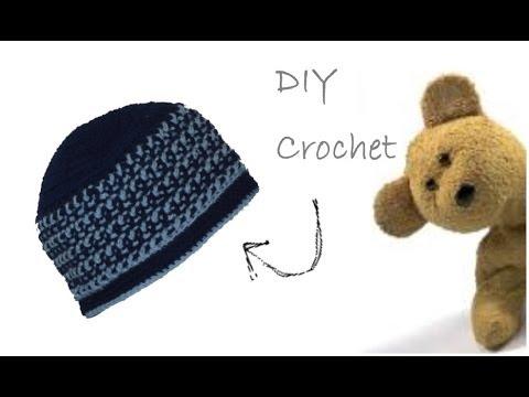 Bright Stripes Crochet Beanie Cappello Per Bimbi Alluncinetto