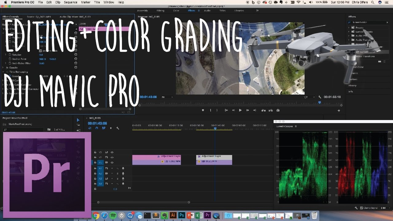 Dji Mavic Pro  Editing And Color Grading 4k Video