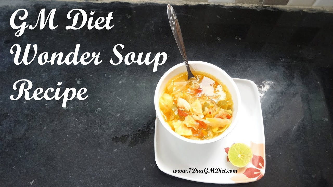 Gm Diet Wonder Soup Recipe Video Ingredients