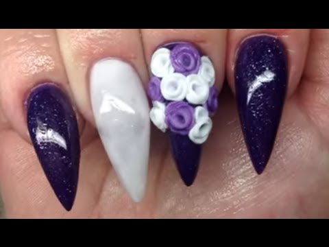 how to valentines purple  non dominate hand  youtube