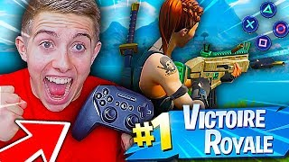 J'AI ENFIN RÉUSSI MON PREMIER TOP 1 À LA MANETTE SUR FORTNITE BATTLE ROYALE !!!