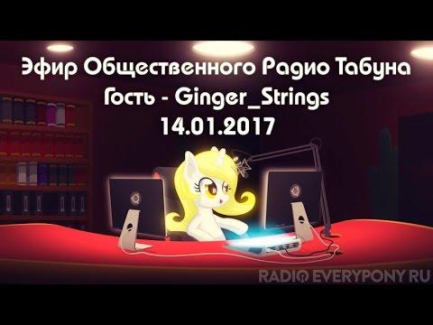 Пони-радио. Эфир Общественного Радио Табуна 14.01.2017. Гость — Ginger_Strings