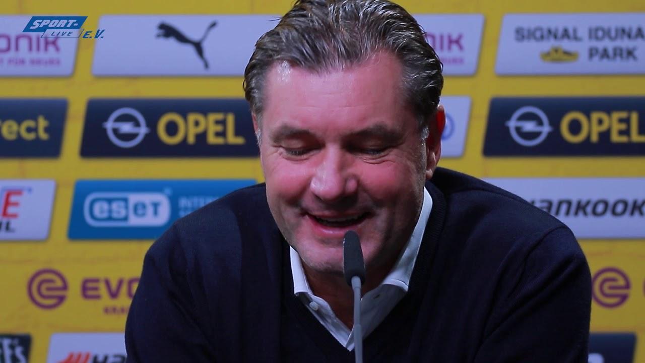 BVB Pressekonferenz mit Favre und Zorc vor dem Spiel in Mainz