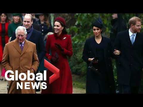 Queen Elizabeth II, Royal Family attend Christmas Day church service