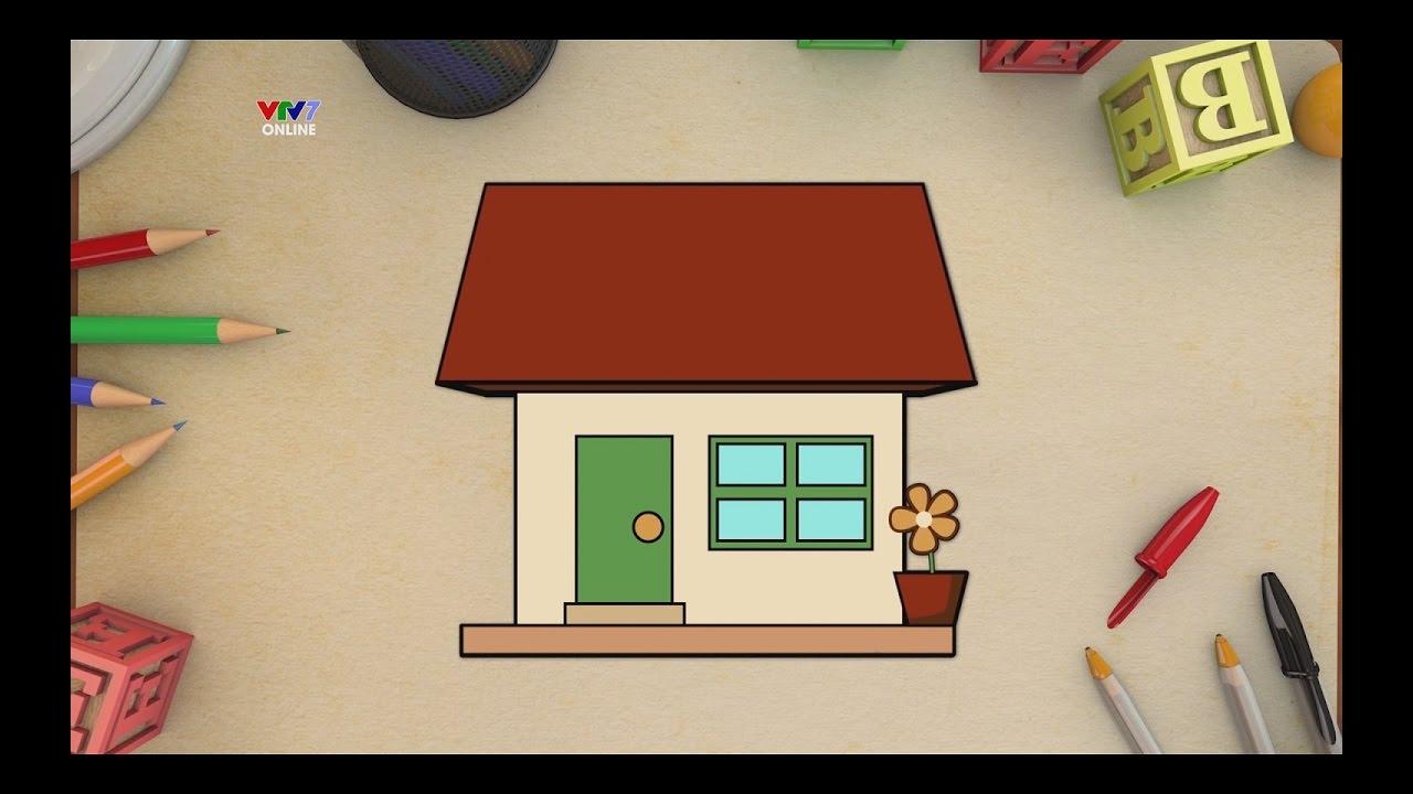 VTV7 | HỌC VẼ CÙNG ẾCH CỐM SS1 | Vẽ ngôi nhà