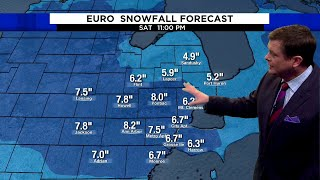 Metro Detroit weather: 5-8 inches of snow expected