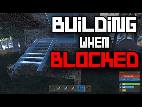 BUILDING WHEN BUILDING BLOCKED!?! Rust Solo Survival Gameplay #47